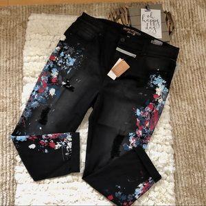 Melissa McCarthy Paint Splatter  Skinny Jeans